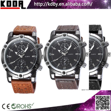 Thickness Case Big Strap Leather Watch Old Fashioned Watch Sports