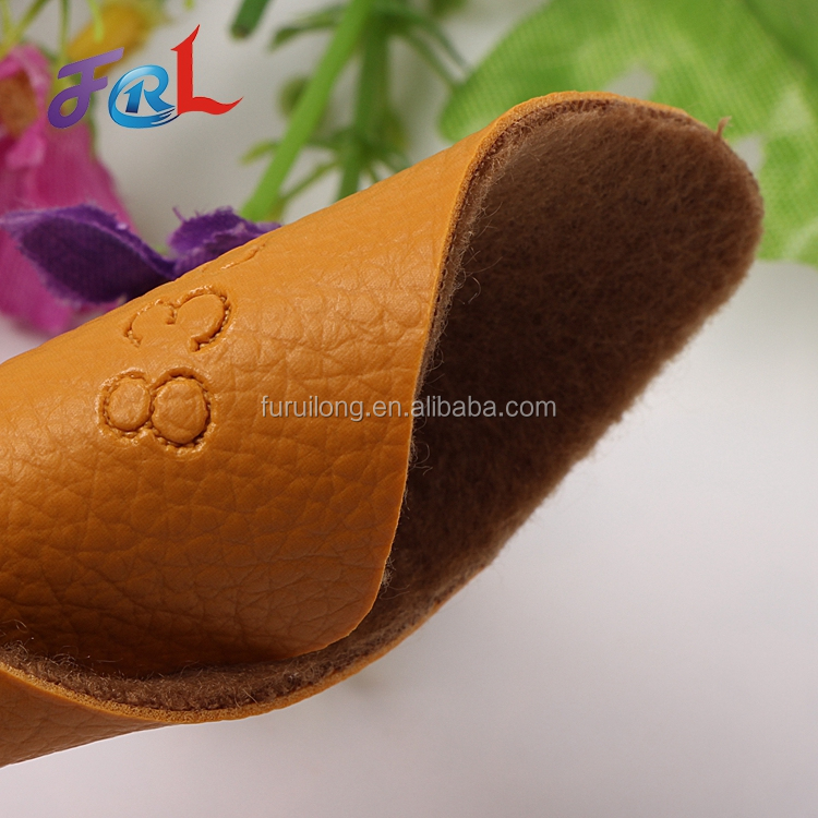Wear-Resistant Cow Split Pu Synthetic Nubuck Leather For Shoe