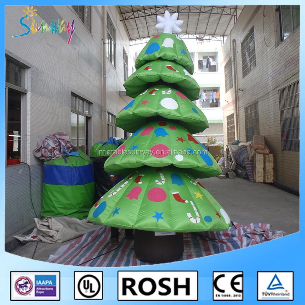 2016 Brand New Attractive And Hot Selling Giant Inflatable Christmas Tree Decoration Supplier