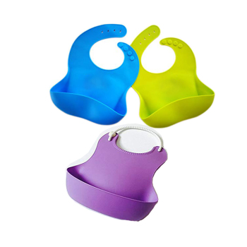 Customized washable silicone baby bib by manufacturers with providing drawing & sample