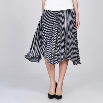 Custom new woman clothing cheap high waist elegant long pleated skirts