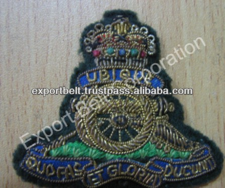Army uniform embroidery badge | antique vetran badge | hand embroidered bullion badge