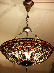 Tiffany big size ceiling lamp