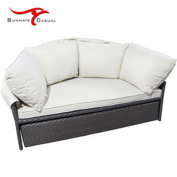 Modern Garden Furniture All-Weather Sectional Outdoor Wicker Daybed