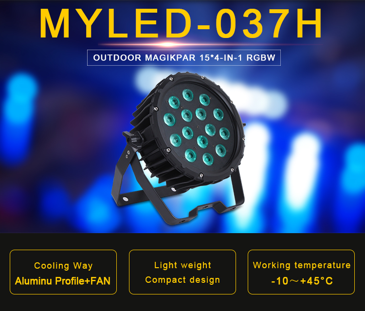Wholesale Multicolor Outdoor Water-proof Concert Show Light 15LEDs RGBW 4 in 1 IP66 Waterproof LED Par Light
