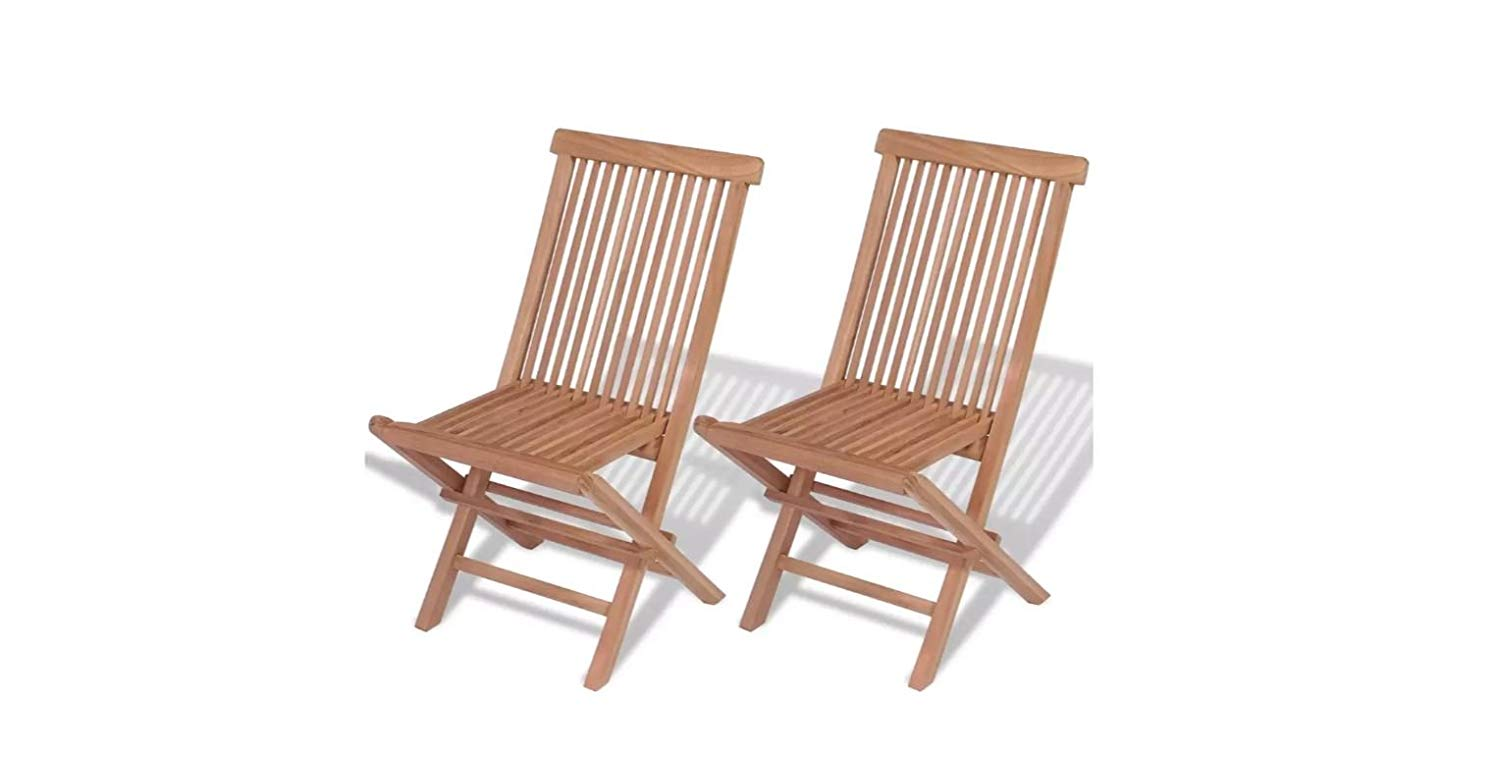 Get quotations · ka company garden teak outdoor chairs 2 pcs patio furniture