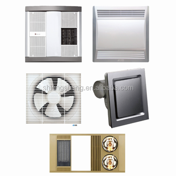 110v 220vventilation Exhaust Fan Wall And Window Mounted Bathroom Ventilation With Light