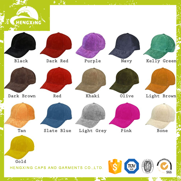 6 panel baseball cap ,suede baseball cap, baseball cap without logo wholesale