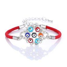 Женский браслет с цветными сердечками Lucky Eye, простой браслет с частотой сердечек, вечерние браслеты, модные аксессуары для женщин(Китай)