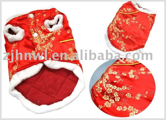 Red Noble Pet Clothes coat