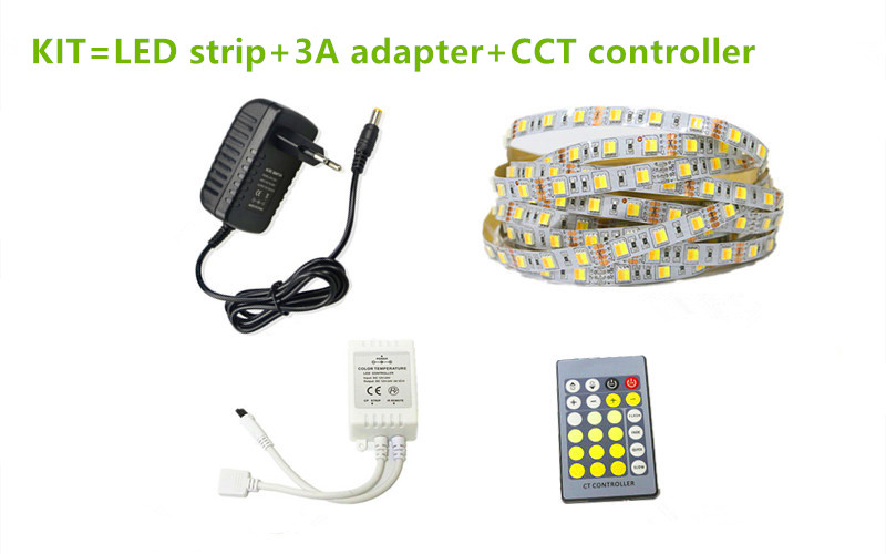 Multi-function dual white strip colour temperature adjustable led tape Made in China
