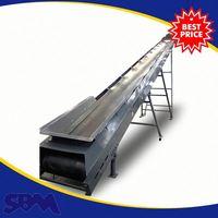 Building construction equipment 400mm belt conveyor, rubber sewing machine belt