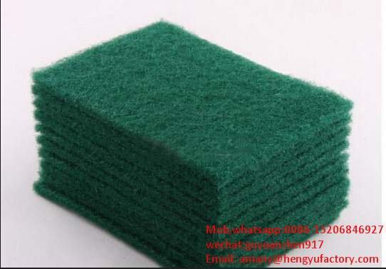 Cheap cloth scrubber pad/sponge scouring pads/dish washing pads with factory price