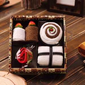 Cotton Cake Souvenir Gift Towel For Family Friends
