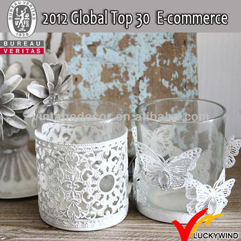 17ade2419c Antique Vintage Glass Tealight Metal Candle Holder - Buy Candle ...