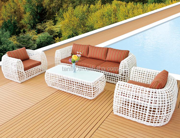 Foshan New design Modern Outdoor Rattan Wicker Sofa Leisure Garden Furniture Sets