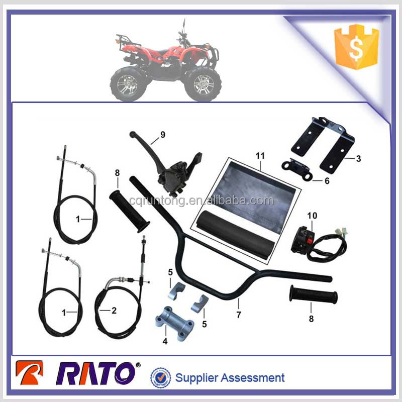 ITALIKA ATV150R motorcycle front brake cable, throttle cable, air guide sleeve parts, steering handle pipe