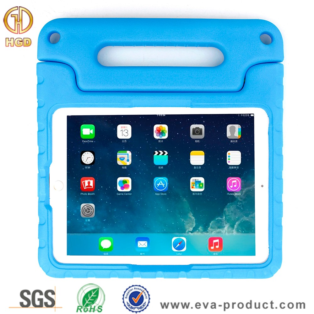 Pefect handle design eva foam protective tablet case for ipad pro 9.7