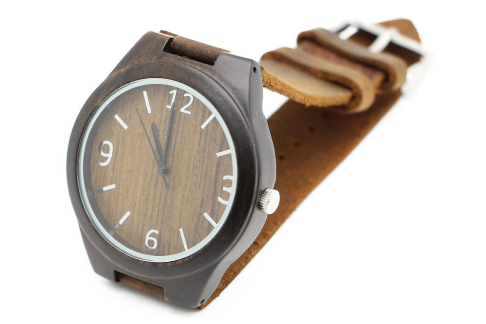 uwood in black from unisex gifts sandal rough new for dress handmade natural watch item christmas quartz wristwatch wooden watches wood s men