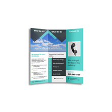 Tri-fold Colorful Company Brochure Booklet Leaflet Flyer Printing
