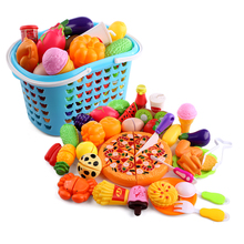 40pcs fruit cutting magnetic toy Plastic cooking toys pretend kitchen play set for kids Early Educational Toy