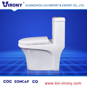 Water Ridge Sanitary Ware Toilet Parts With Automatic Seat Cover