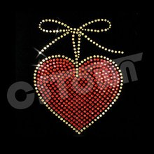 2012 Sweet heart custom iron on rhinestone designs
