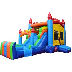 water slide inflatable water combo bouncers/inflatable bouncer slide