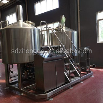 CGET Shandong Zhongde Shandong Kelang turnkey brewhouse 1000L brewery for Argentina for South America market