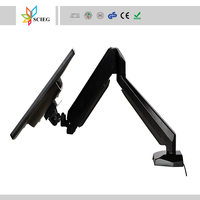 Aluminum Gas spring lcd monitor arm desktop mount