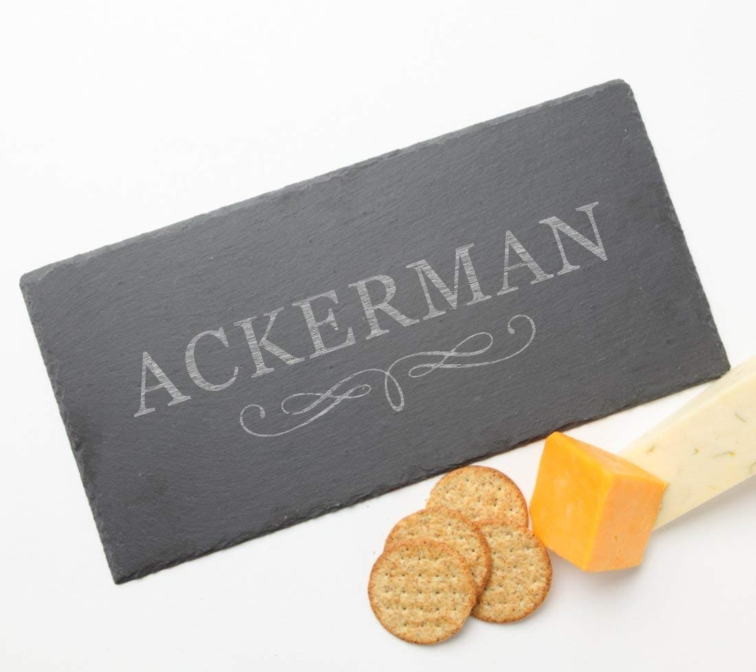 Personalized Slate Cheese Board, Custom Engraved Slate Cheese Board Design 8-Personalized Wedding Gifts, Engraved Bridal Shower Gift, Anniversary Gifts, Engagement Gift