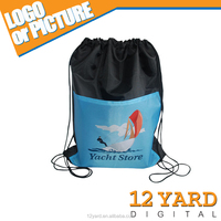 China manufacturer combination two colors large travel & sport drawstring bag for men and women