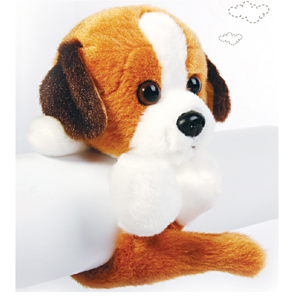Custom <strong>plush</strong> white with brown dog toys