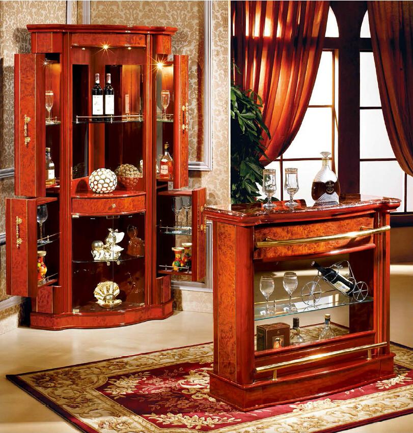 Home Bars For Sale: Wholesale Spanish Style Wood Mini Corner Design Home Bar