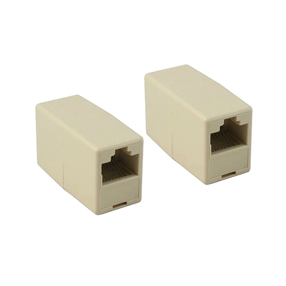 C-zone [2 Pack] RJ45 CAT5 CAT5E Ethernet Network LAN Cable Connector Adapter Female to Female Straight Modular Inline Coupler
