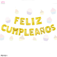 Wholesale Party Decoration Alphabet Foil Spanish Happy Birthday Balloons