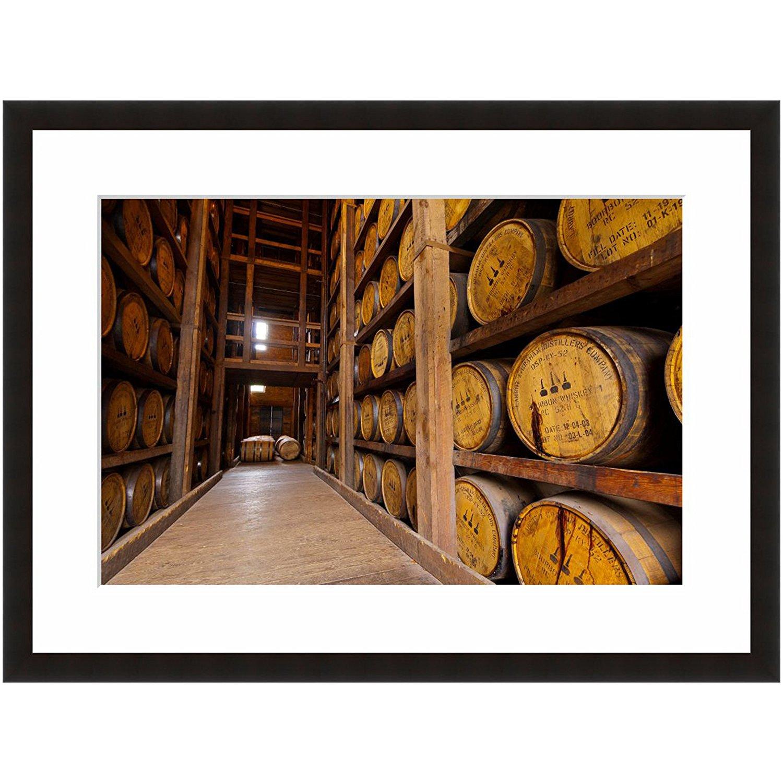 "eFrame Fine Art | Woodford Reserve,Kentucky Bourbon Whiskey,Oak Barrels 2 of 3 by Blaine Harrington 8"" x 12"" Framed Wall Art for Wall or Home Decor (Black, Brown, White Frame or No Frame)"