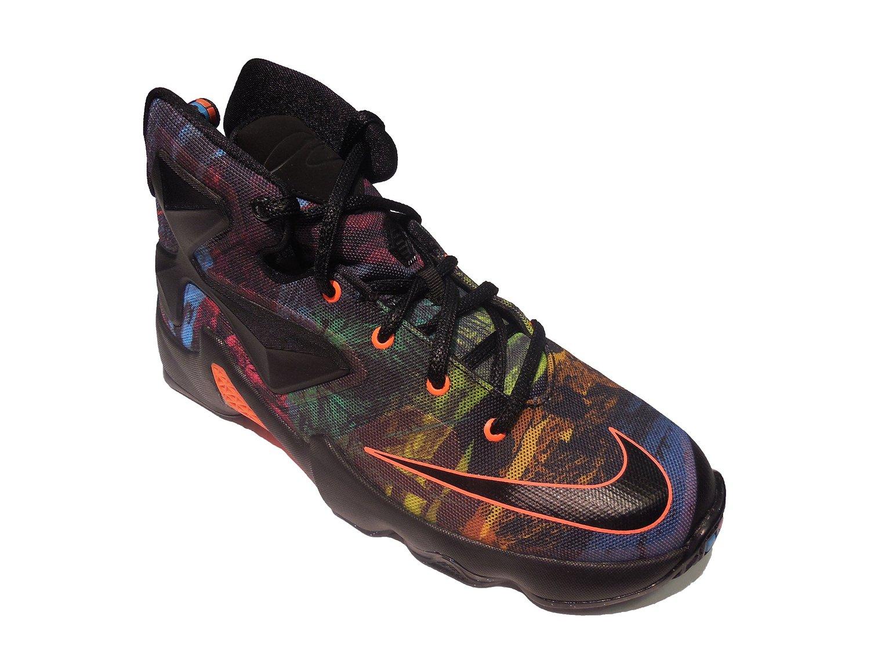 info for b8e8d e99c2 Get Quotations · Nike Kid s Lebron XIII GS, AKRONITE-BLACK BLACK-HYPER  ORANGE-BLUE