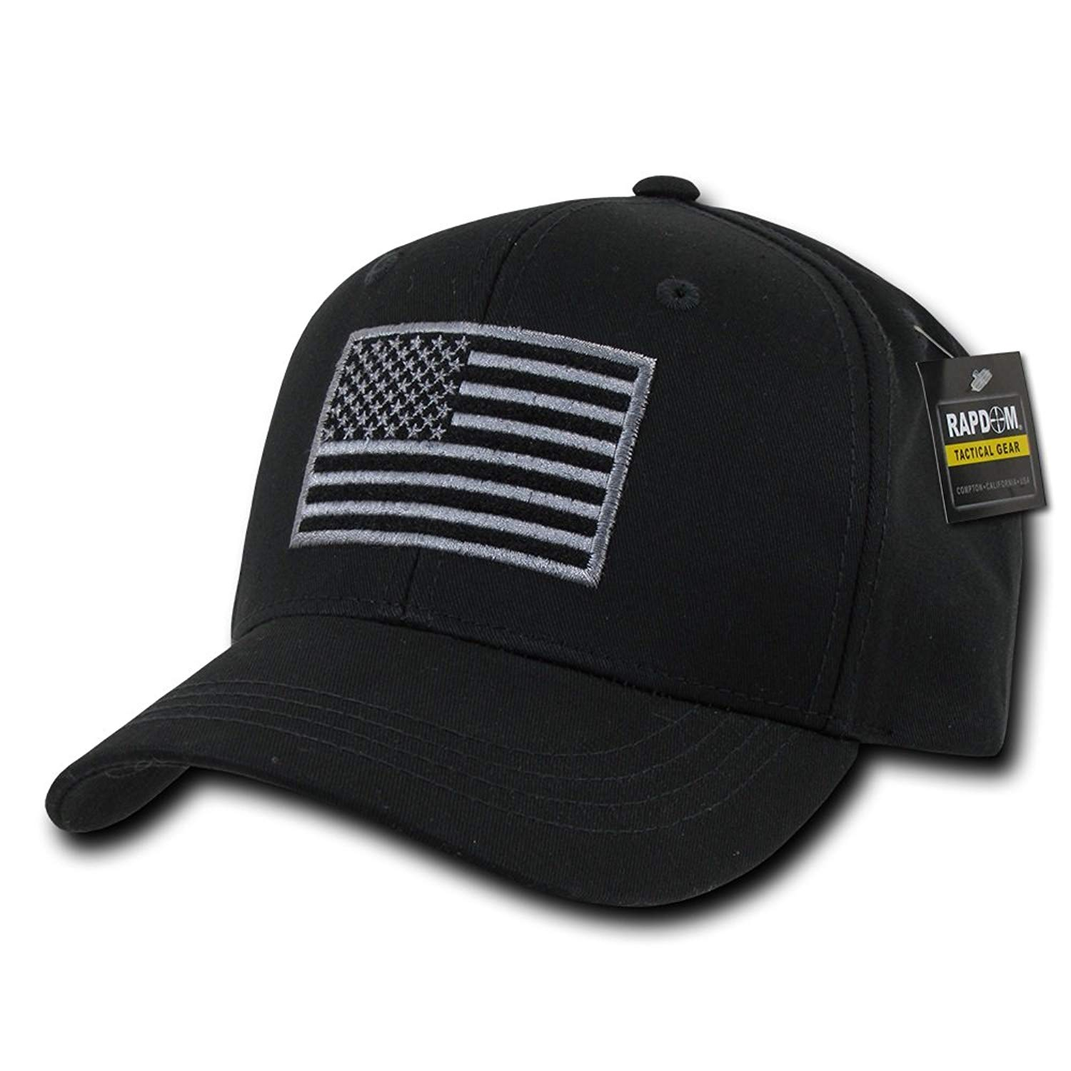 a4ca3500d56 Get Quotations · USA US American Flag Embroidered Tactical Operator Cotton  Structured Baseball Hat Cap