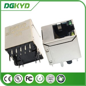 DGKYD511Q070AB2A8 Shielded 180 degree LAN Network Interface 1000 BASE-T RJ45 Connector