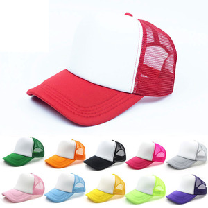 33 colors Kids Trucker Cap Adult Mesh Caps Blank Trucker Hats Snapback Hats Accept Custom Made Logo