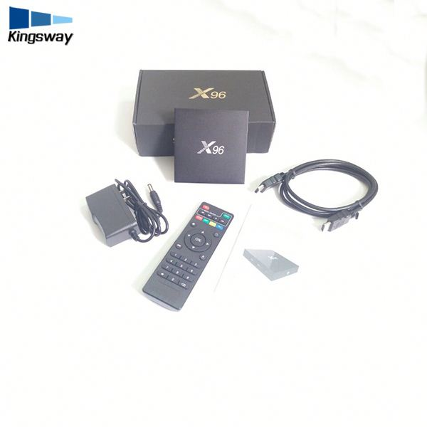 Fire tv stick best tv box box android H.265 decoder S905X X96 1GB+8GB OR 2GB+16GB Set top box