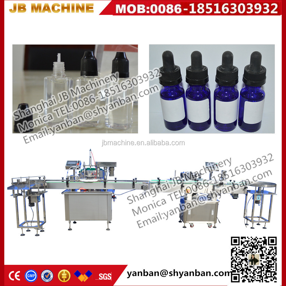 2 heads e cig,e juice bottle filling capping and labeling machine from monica JB-YX2