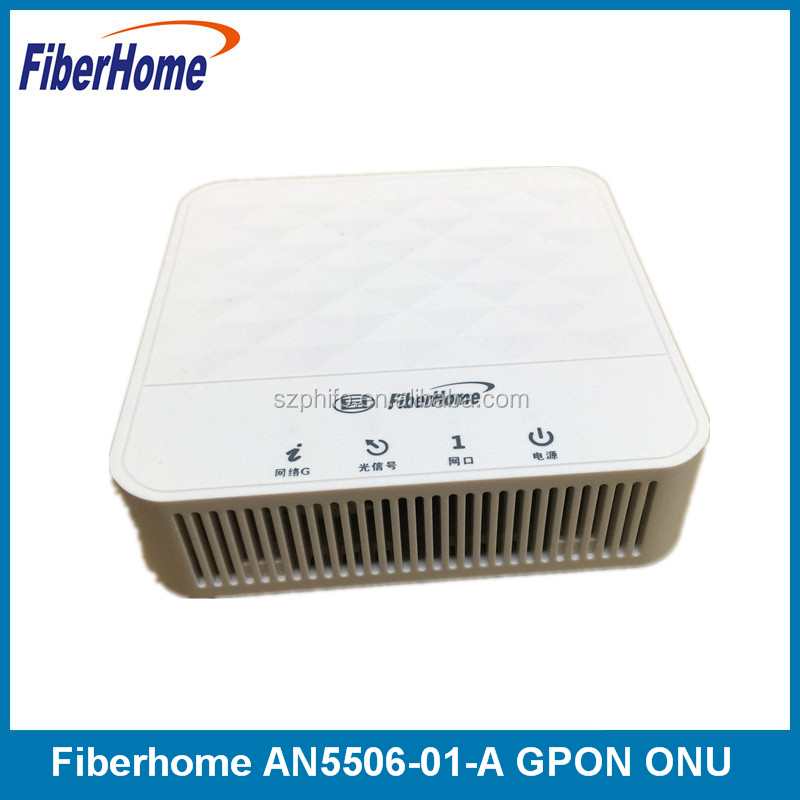 Fiberhome AN5506-01-A GPON ONU optical network unit apply to FTTH FTTO modems, single GE port , white, SC/UPC input, English