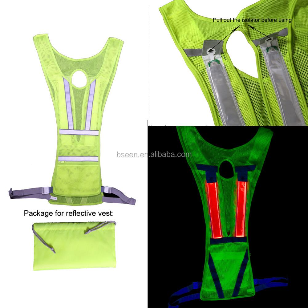 2017 hot selling products sport running vest nathan led reflective vest