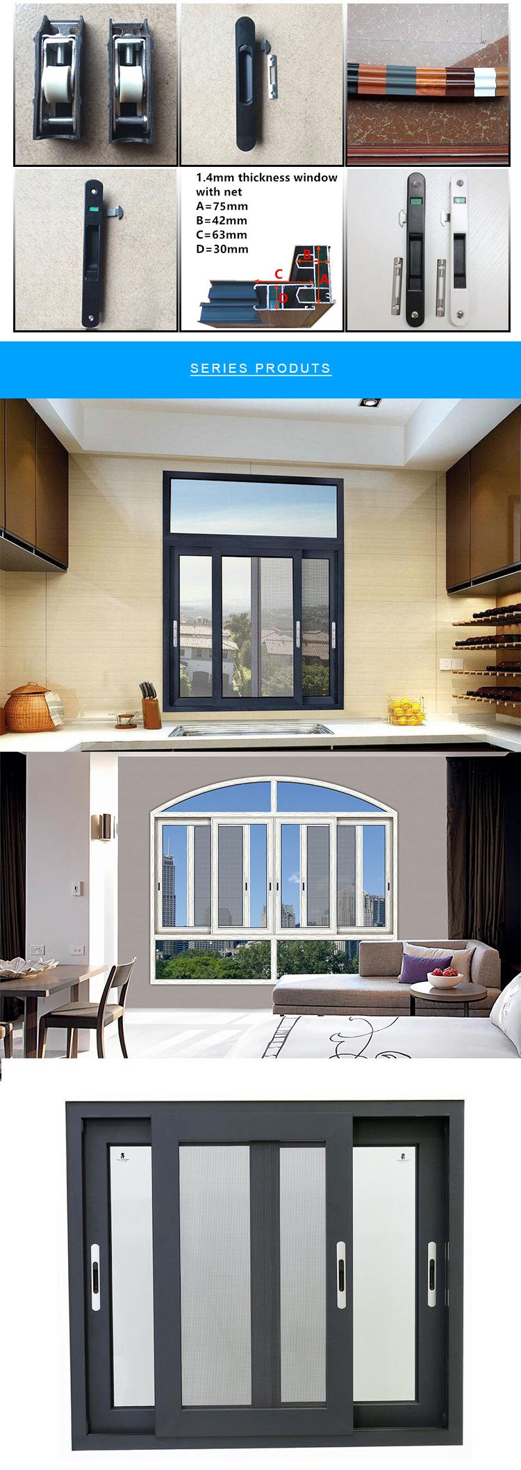 จีนผู้จัดจำหน่ายล่าสุดอลูมิเนียมเลื่อน windows สำหรับโรงแรมและวิลล่า