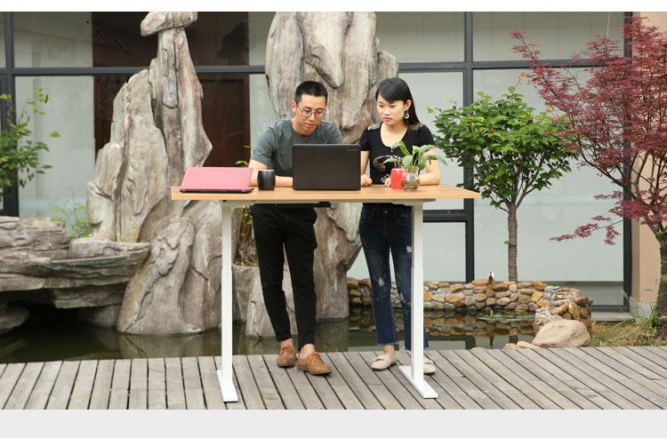 Manual Office Table Legs Height Adjustable Standing Crank Desk Frame