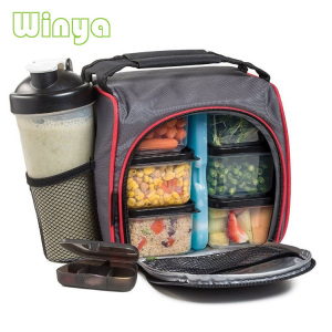 Wholesale Big Insulated Inner Cooler 6 Pack Container Fitness Lunch Prep Meal Bag