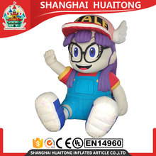 custom purple cute inflatable Arale cartoon girl inflatable cartoon characters
