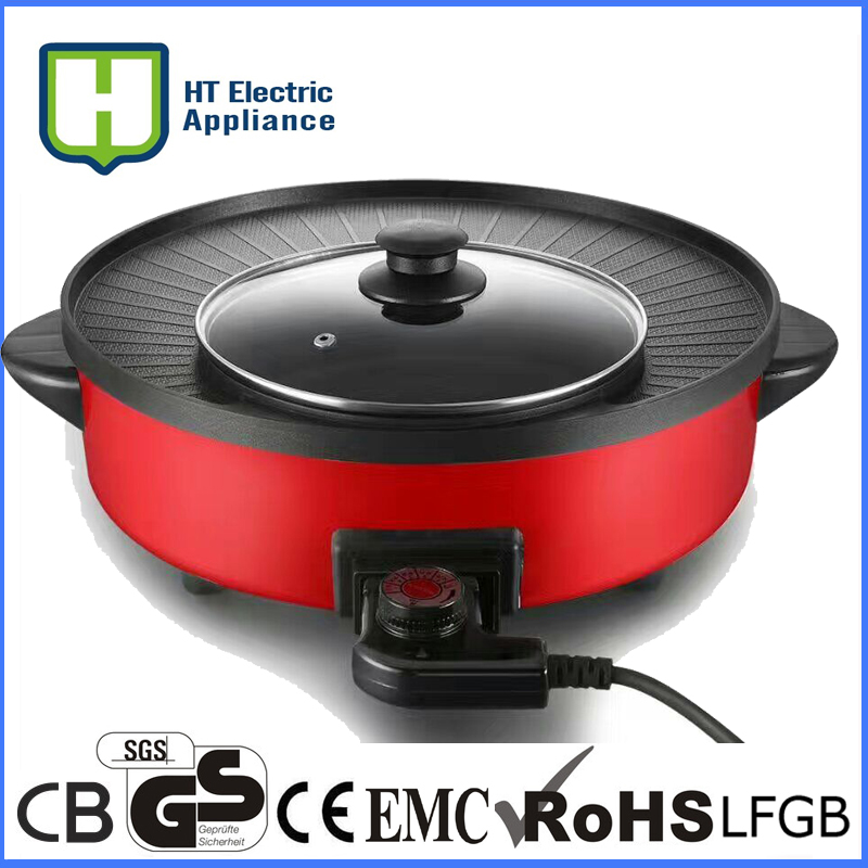 220V Non-stick Potable Electric BBQ Grill Machine Smokeless Korean Barbecue Grill Pan For Family Outdoor Party pan